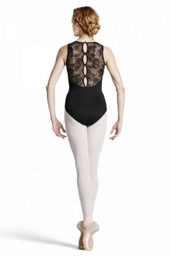 BLOCH Ladies Dance Tank Style Leotard Lace Panels Button Back Fresia L8845